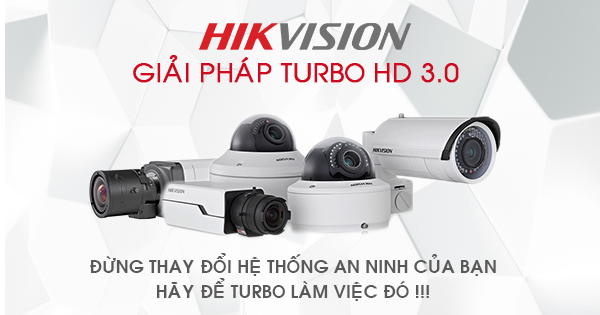 Hikvision ra mắt camera Turbo HD 3.0MP