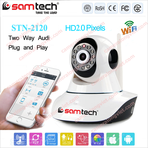 CAMERA IP Wifi FullHD 2.0MP SAMTECH STN-2120